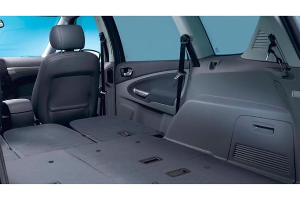 Ford S-MAX сложенные сиденья