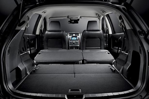 Mazda CX-9 - сложены сиденья второго и третьего ряда, получился большой багажник