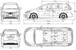Mazda 5 - схема автомобиля с размерами