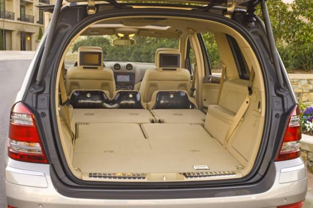 Mercedes-Benz GL-Class - размер багажника со сложенными сидениями 2 и 3 рядов