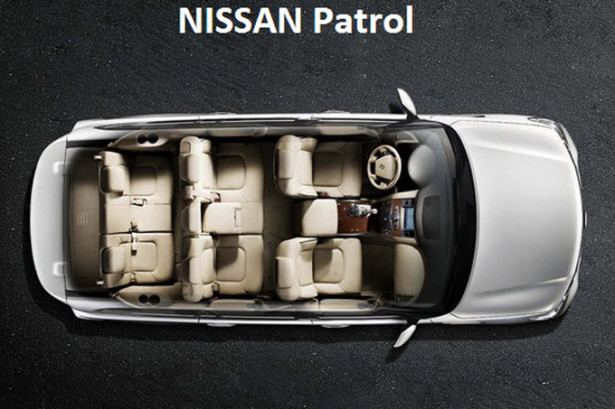 Nissan-Patrol - вид сверху на 7-местный салон без крыши