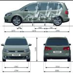 Volkswagen Touran - размеры и технические характеристики