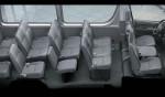 Toyota Hiace - расположение мест в салоне автобуса