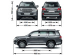 Toyota Land Cruiser 200 - габариты и размеры