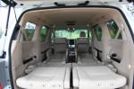 Toyota Alphard - сложеный третий ряд, вид из открытого багажника