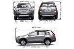 Chevrolet Captiva - размеры автомобиля и технические характеристики