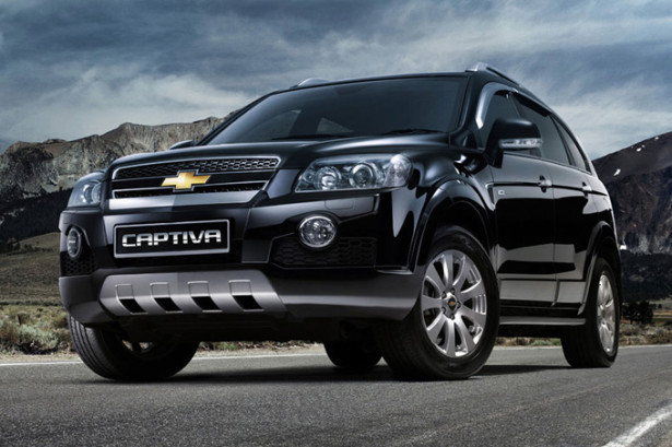 Chevrolet Captiva чёрного цвета