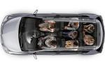 Toyota Verso - вид сверху без крыши, 7-местный вариант с пассажирами